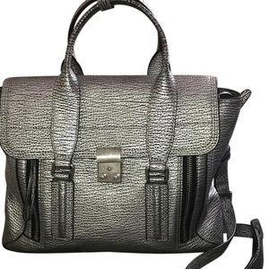 3.1 Phillip Lim Metallic Silver Medium Pashli Bag